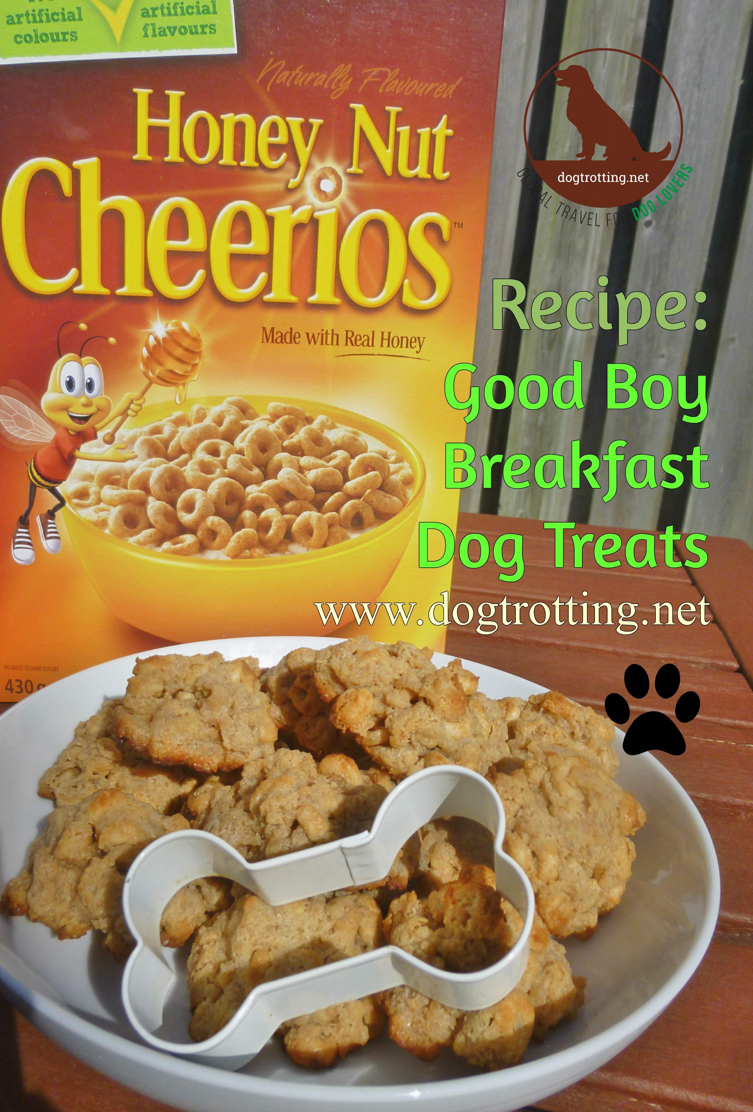 recipe for dog treats made from cheerios