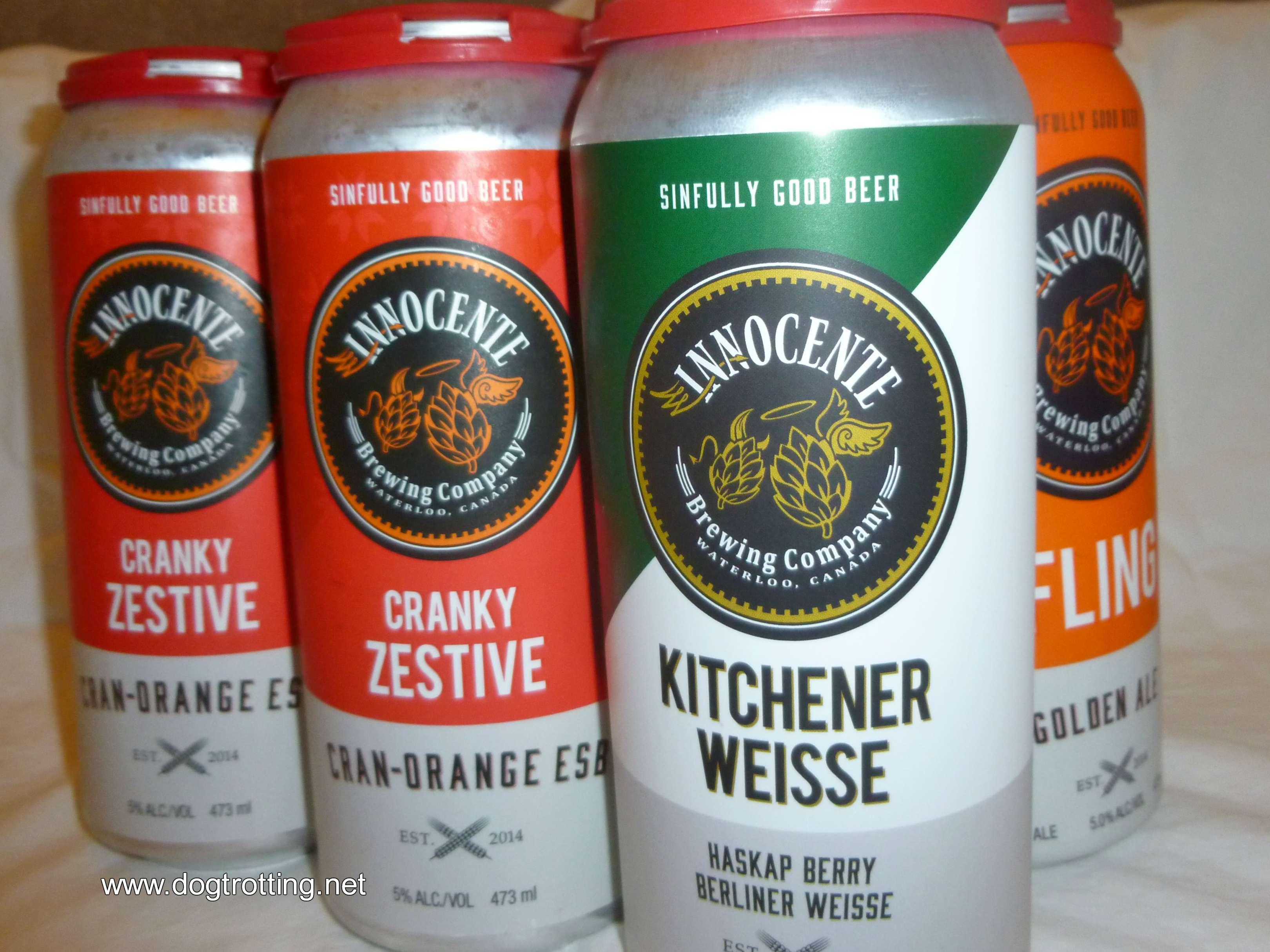 cans of Innocente beer