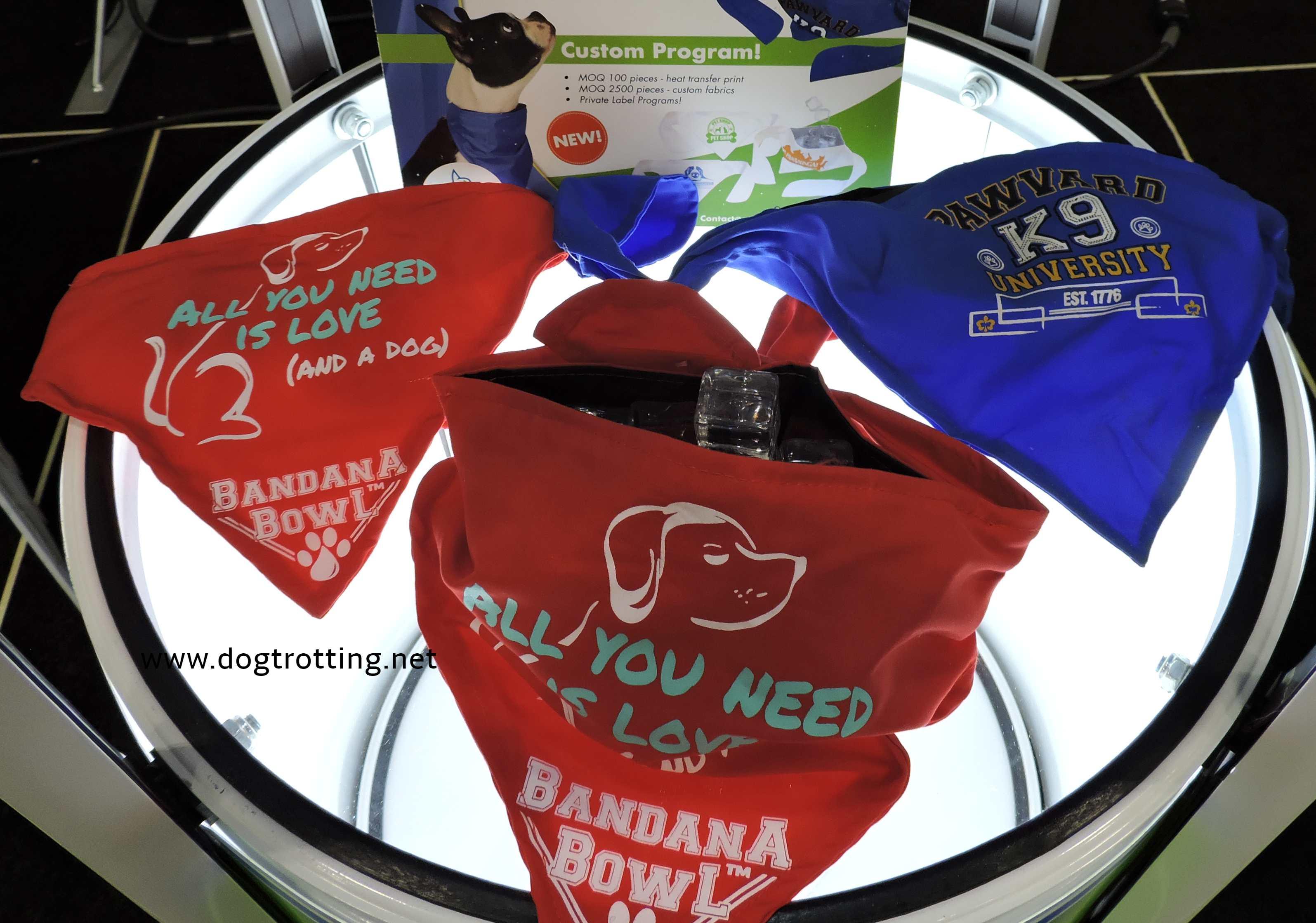 bandana bowl dog product