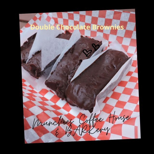 Double Chocolate Brownies from Munchies Coffee House and Barkery in Hamilton Ontario