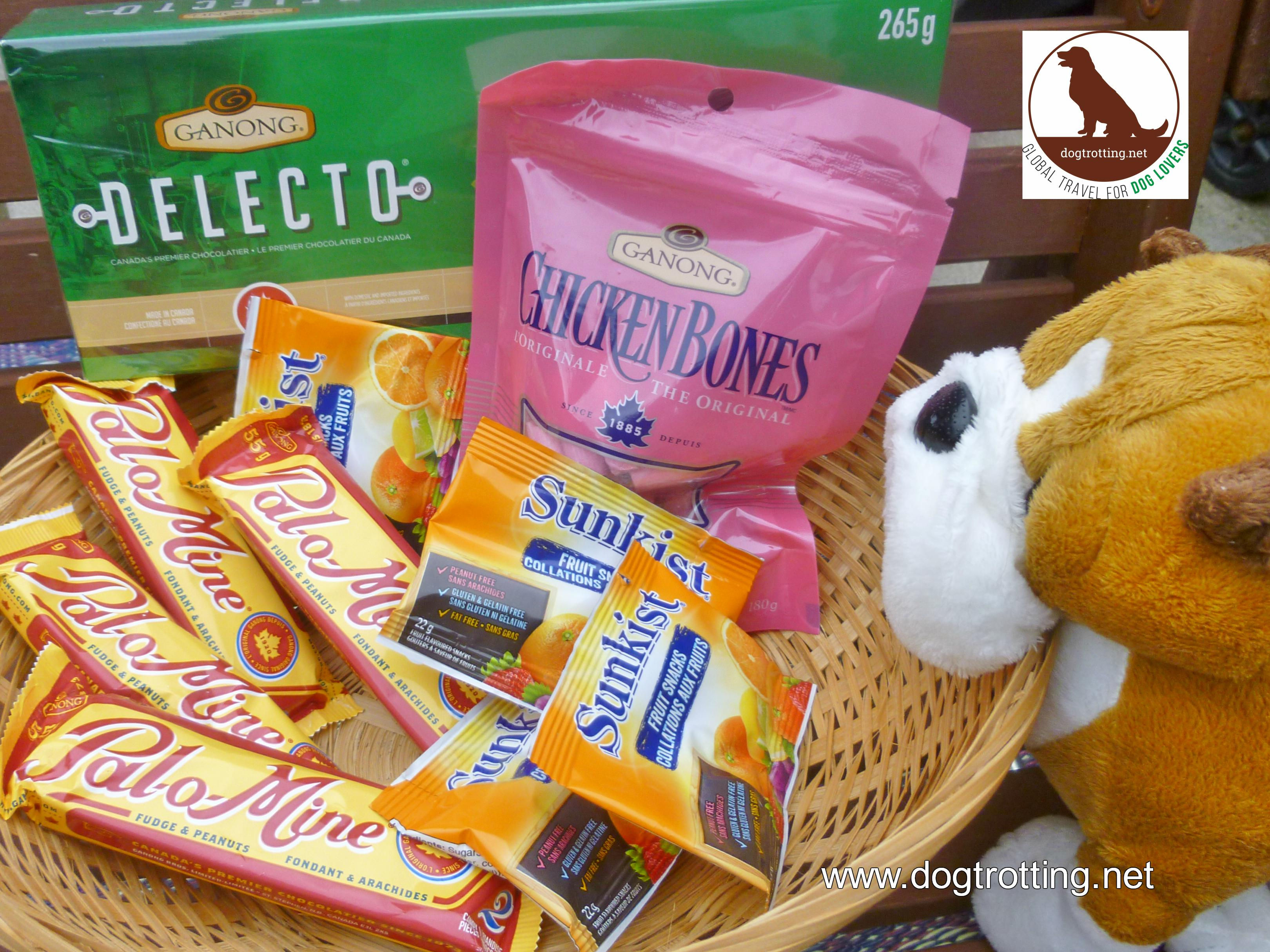 basket of Ganong chocolates