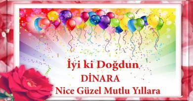 iyiki doğdun dinara videolu doğum günü mesajı