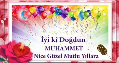 iyiki doğdun muhammet videolu doğum günü mesajı