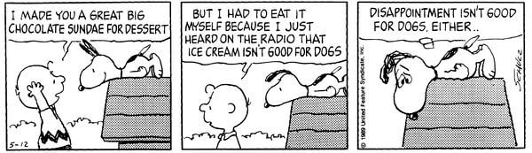 Peanuts diappointment