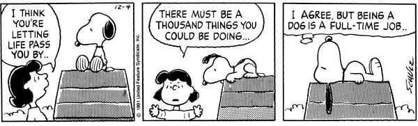 snoopy full time job
