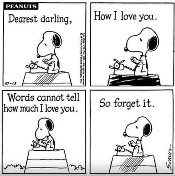 snoopy how much I love you
