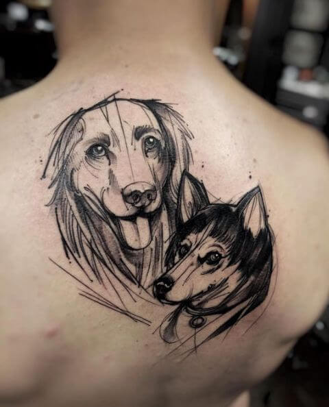 dog tattoo dog lover