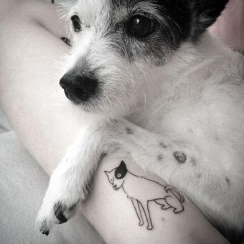 beautiful dog tattoo