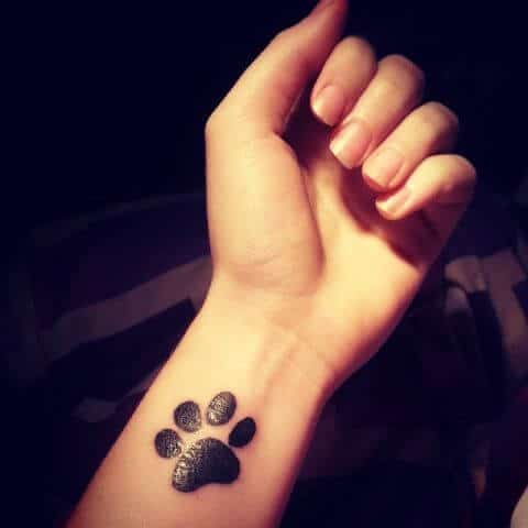 paw marks are for forever dog tattoo ideas