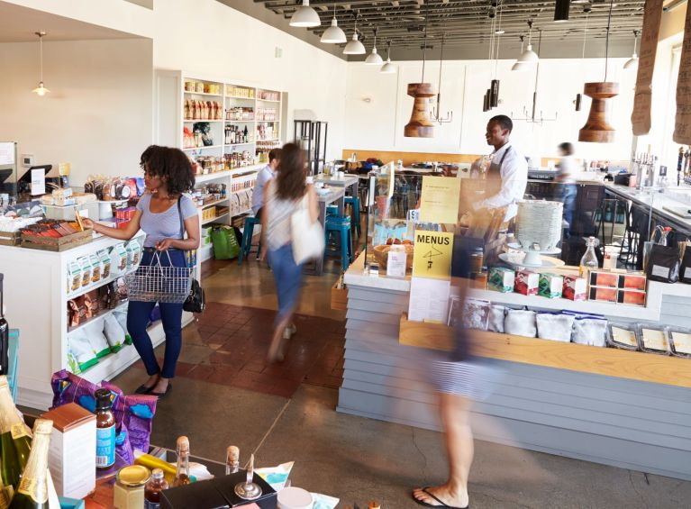 Busy delicatessen that can improve customer service