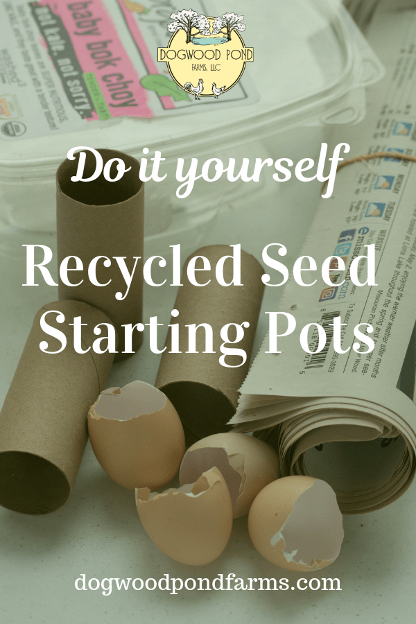 Frugal gardeners can save money by using recycled materials to make DIY seed starting pots.