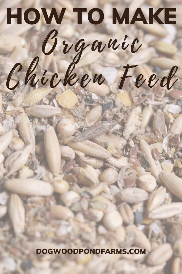 make organic chicken feed