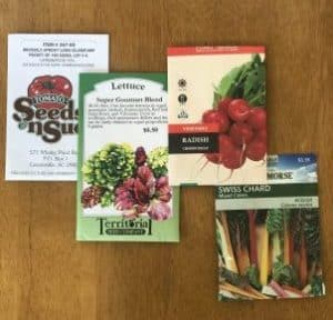 Fall seed packets, fall seeds, planting a fall garden