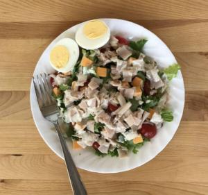 Garden salad with turkey