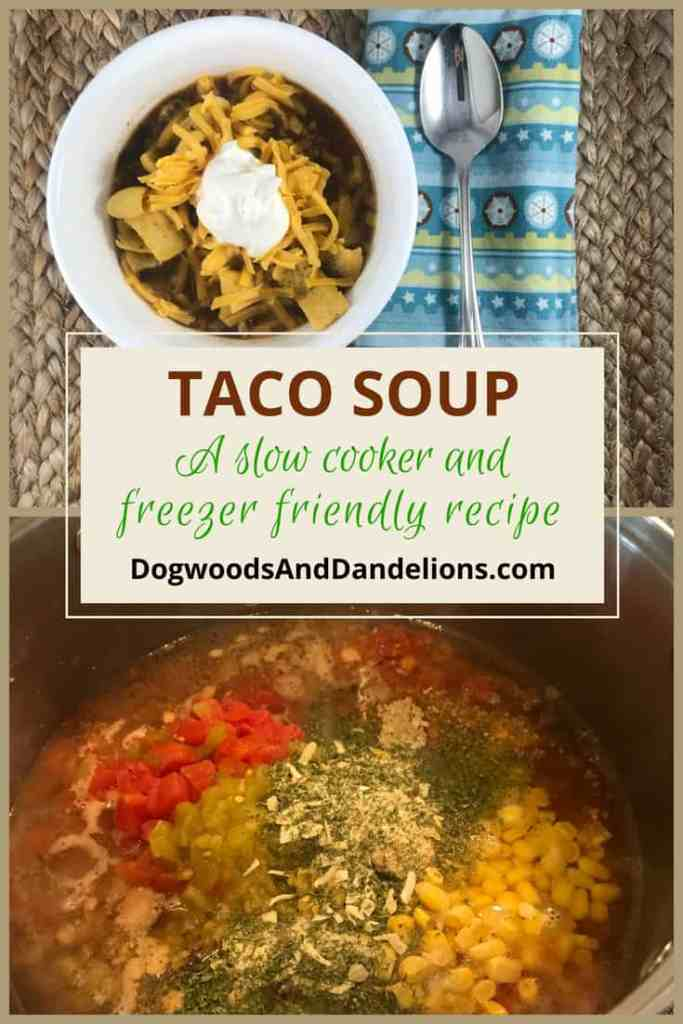 Taco Soup-slow cooker and freezer friendly
