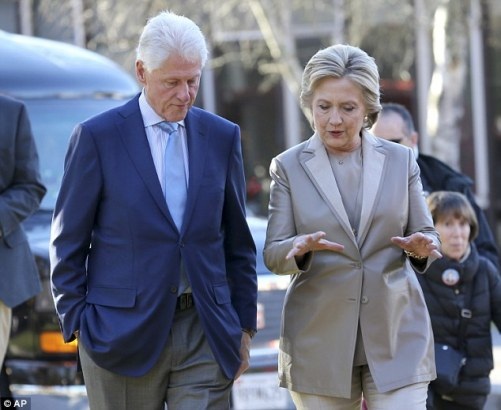 'Whitewater' was the key financial scandal of the Clinton presidency (Clintons pictured just days before the 2016 election)