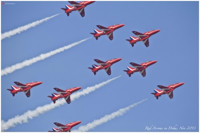 2013 show by British aerobatics group the Red Arrows
