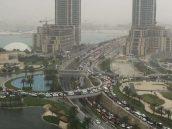 Traffic on the Pearl-Qatar