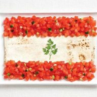 Tomatoes, pita bread and parsley