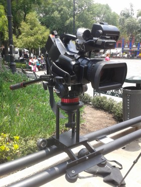 Dolly portratil y Camara Sony XDCAM Cinealta