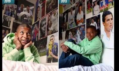 Quand Kylian Mbappé remplace les posters de son idole Ronaldo par les siens
