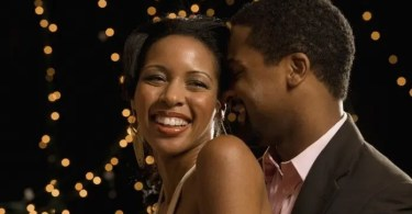 Portrait Of African Couple Laughing