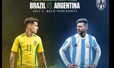 Copa America,brésil Argentine,lionel Messi ,donne ,impressions, Match Choc