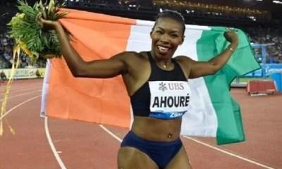 Côte D'ivoire ,murielle Ahouré ,championne Du Monde , 100 M , Boston Games