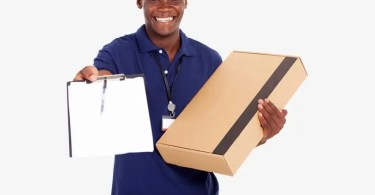 425 4251140 Delivery African American Delivery Man