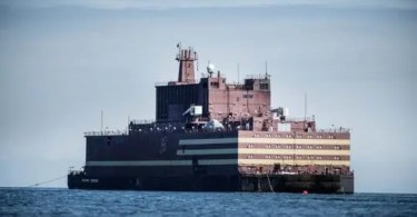 World's First Floating Nuclear Power Plant 'akademik Lomonosov' Passes Langeland