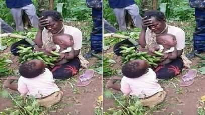 Une Grande Mère Pendue , Avoir Volé ,régime De Plantain , Nourrir Ses Enfants