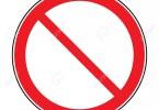 49855432 signe d interdiction isolé sur blanc pour pas d entrée aucune entrée mauvaise façon l interdiction