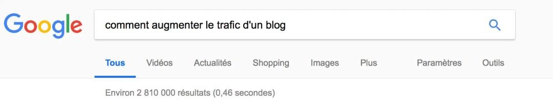 Nombre de résultats pour comment augmenter le trafic d'un blog