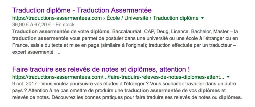 Page de résultats de recherche pour traduction assermentée diplôme