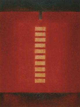 "Red background with horizontal row of yellow rectangles, titled ""Stupa"""