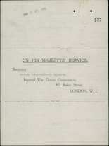 Lt G.G. May: Verification Form - cover
