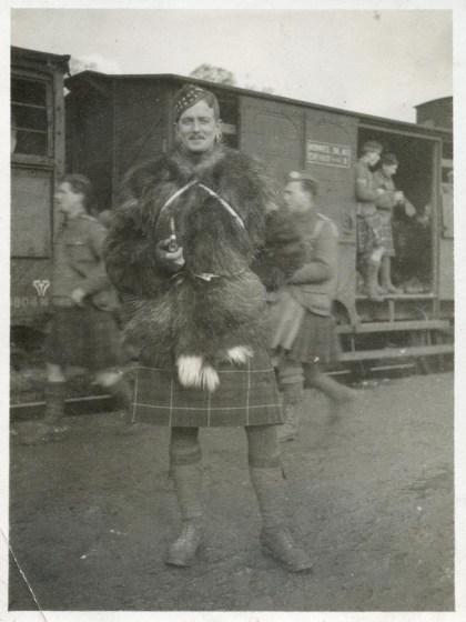 Sgt-Maj Ramsay in his goatskin jacket