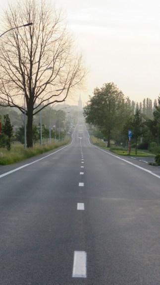 Looking toward Ypres on the Menin Road