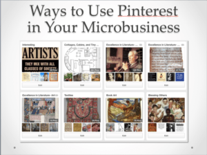 Ways to use Pinterest in your micro business.