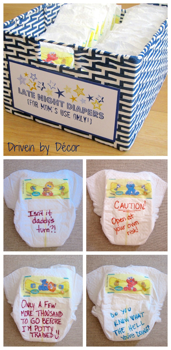 Funny Diaper Messages : funny, diaper, messages, Night, Diaper, Shower, Suggestion