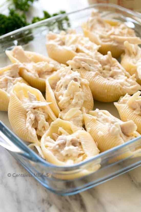 Cheesy-Chicken-Stuffed-Shells-21