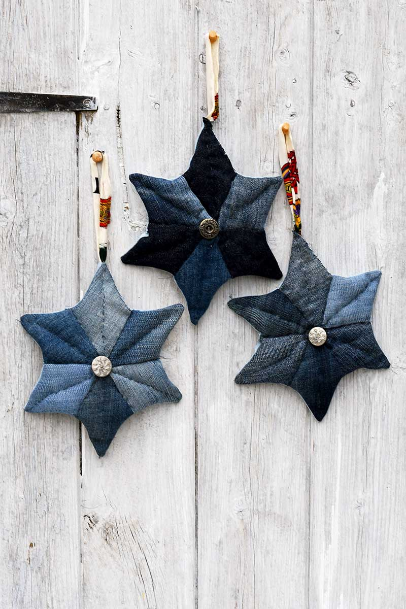 How To Embroider A Star : embroider, Denim, Patchwork, Stars