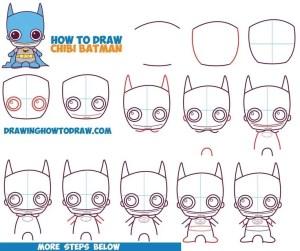 step draw beginners easy drawing batman things chibi simple drawings tutorial comics dc tutorials kawaii cool steps beginner amazing characters