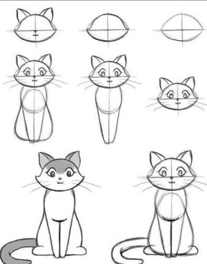 draw step easy drawing beginners cool things tutorials drawings simple sketches cat lessons tutorial guide tips everything craft team