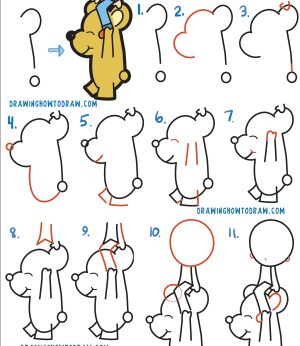 draw step easy drawing cartoon beginners boy tutorials tutorial question mark bear riding things cool drawings simple drawinghowtodraw steps guide