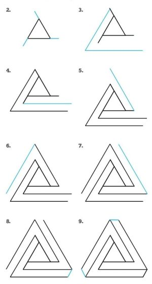 step draw easy beginners things cool drawing tutorials triangle impossible
