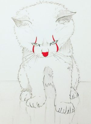 cat drawings easy drawing simple step pencil dog