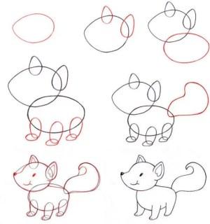 drawing step easy tutorials fox creative draw simple beginner