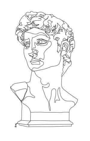 line drawing drawings easy contour before