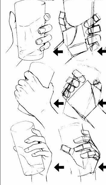 How To Draw Hand Holding : holding, Drawing, Before